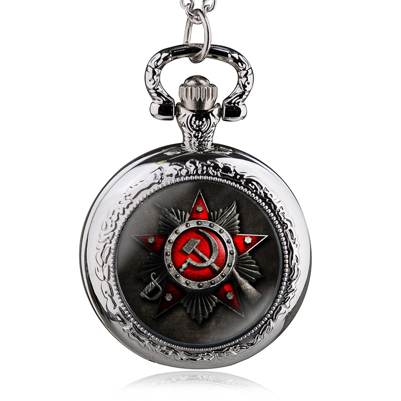 2016-New-Antique-Soviet-Union-Flag-Theme-Bronze-Quartz-Pocket-Watch-Pendant-Necklace-Fob-Watch-For (1)