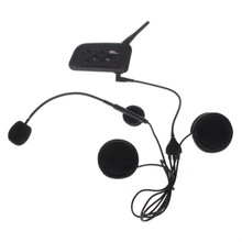 Motorcycle Handsfree Bluetooth intercom 1200M full duplex talking 4 riders Stereo headset FM Radio - Shenzhen Changshi Technology Co.,Ltd store