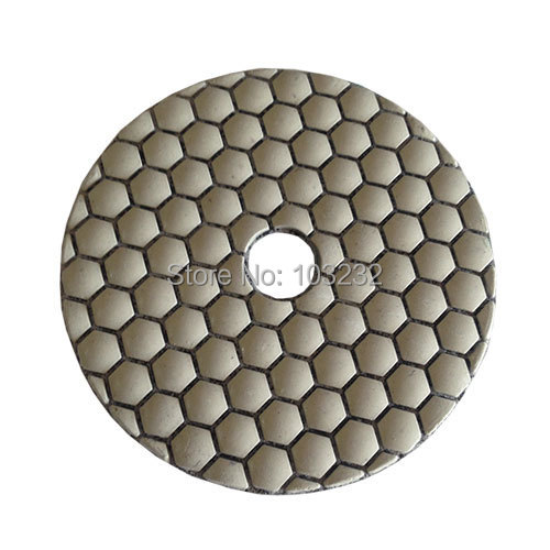 New 2015 hot sale dry diamond polishing pads granit marble sanding disc polisher resin gloss pad sandpaper dia 4 inch 7 pcs/lot(China (Mainland))