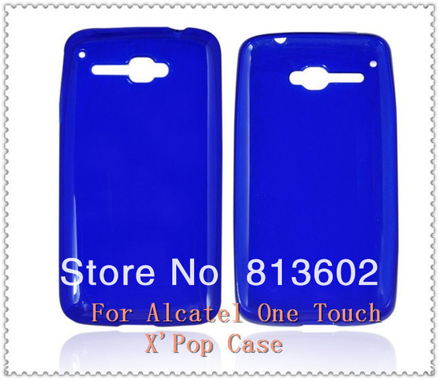 For Alcatel One Touch X' POP OT 5035 OT-5035D Fashion Style Soft TPU Gel Back  Case Cover Skin Via Free DHL,High Quality