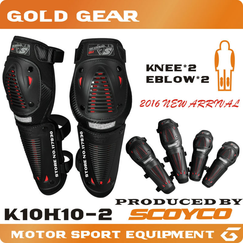Black+Red hot sale Knee and Eblow protector Motor Racing Protective Motocross Guards MX Knee Pads/cap Motorcycle Knee Protector(China (Mainland))