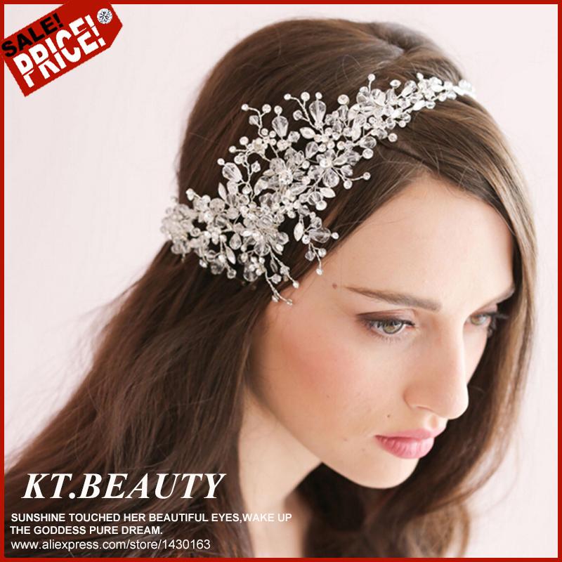 2015 New Wedding Headband Crystal Headbands Rhinestone Bridal Hair Jewelry Wedding Accessories Vintage Wedding Headbands(China (Mainland))