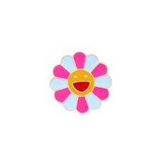 Kartun Bunga Bros untuk Wanita Enamel Daisy Merah Hitam Rose Colorful Sun Shirt Lapel Pin Tas Lencana Perhiasan Hijab pin Hadiah(China)