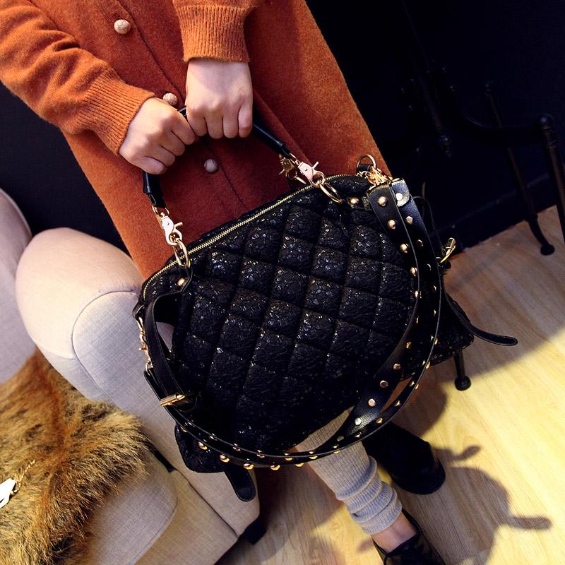 Ms. European fashion handbags big bag 2016 new wave of female Korean autumn and winter shoulder bag handbag Messenger