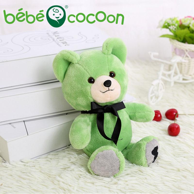bebecocoon 25CM Kawaii Teddy Bear Plush Toy Stuffed Bears Doll Soft Kids Toys Baby Huggable Dolls Children Girls Gifts Set(China (Mainland))