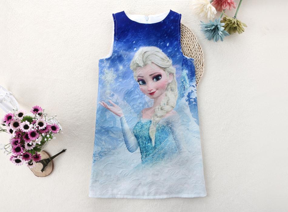 Anna Elsa Dress Girls Summer Dress Brand Girl Clothing High Quality Girl Clothes Snow Queen Princess Dresses 2016 Kids Costume