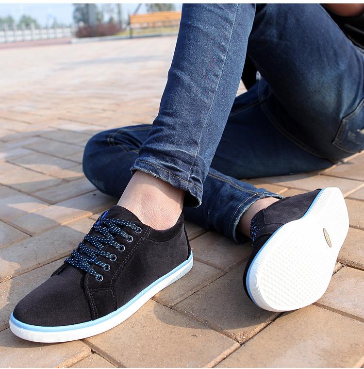 Новый 2015 Мужской обуви Модный Бренд Холст обувь для мужчин Случайные плоские туфли skateborading обувь мужчины