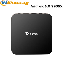 Buy Amlogic S905X TX5 Pro TV BOX Android 6.0 2G/16G Media Player HD 4K Fully KODI 16.1 Dual Wifi Quad core Android Set Top TV Box for $47.88 in AliExpress store