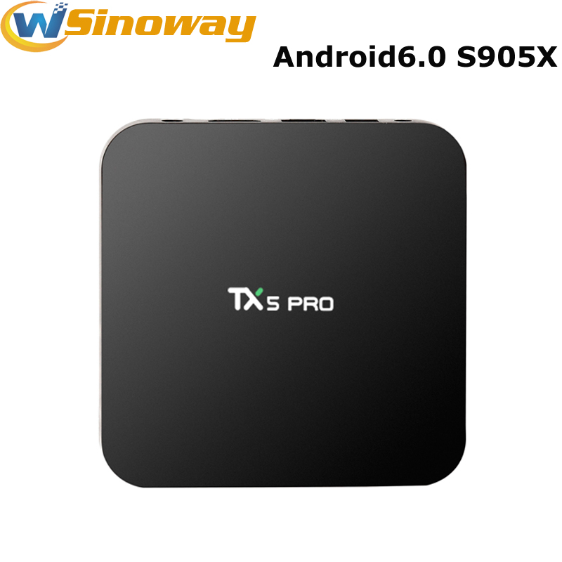 Amlogic S905X TX5 Pro TV BOX Android 6.0 2G/16G Media Player HD 4K Fully KODI 16.1 Dual Wifi Quad core Android Set Top TV Box(China (Mainland))