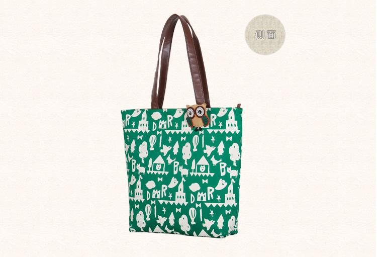 ซื้อ ญี่ปุ่นผ้าใบกระเป๋าสะพายหญิงหดตัวโจ๊กแบบพกพาg raffitiของถุงใหญ่การฟื้นฟูวิธีโบราณนักเรียนหญิงกระเป๋า