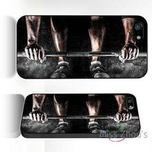 For iphone 4/4s 5/5s 5c SE 6/6s plus ipod touch 4/5/6 back skins mobile cellphone cases cover Gym Health and Fitness Deadlift