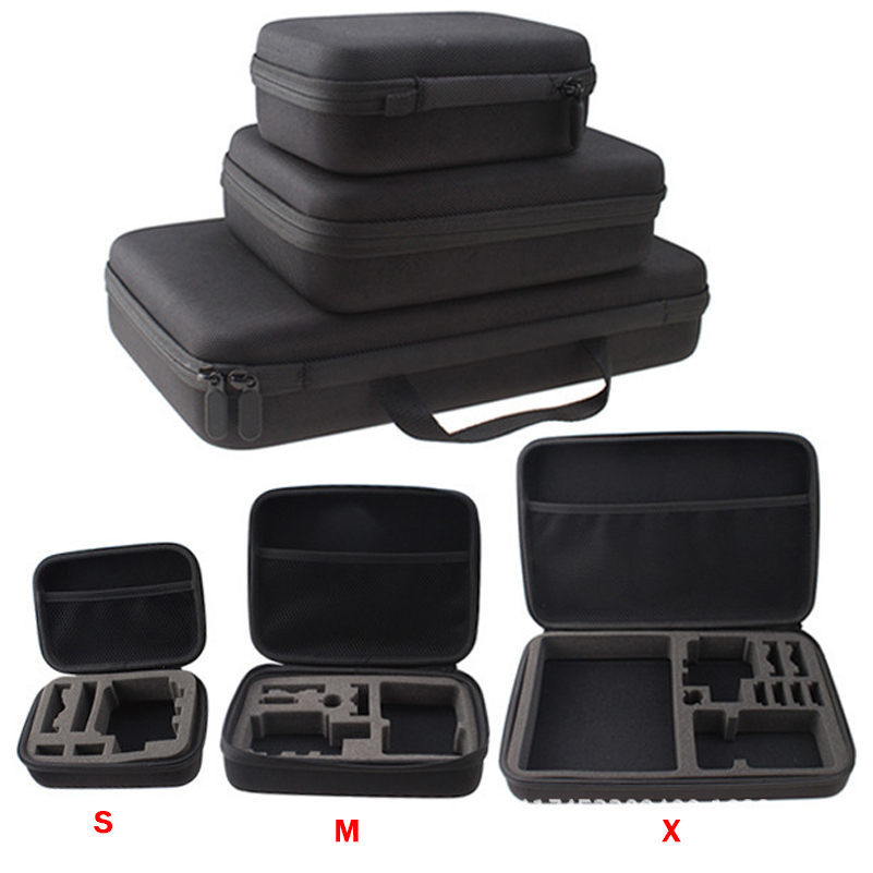 New Large Big Size EVA Travel Storage Collection Bag Case Box for GoPro for sj4000 Action Camera Accessories 33*22*7CM(China (Mainland))