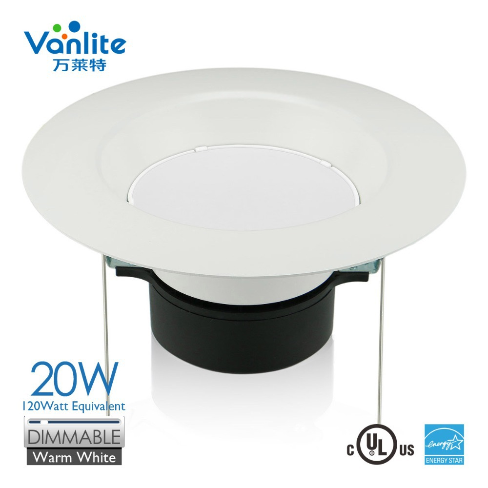 Led retrofit recessed light 6 inch 20w 100w equivalent - Downlight led 20w ...