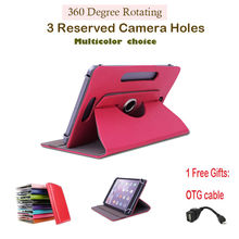 For Chuwi HI8 Dual OS 8 Inch 360Degree Rotating Universal Tablet PU Leather cover case Free OTG