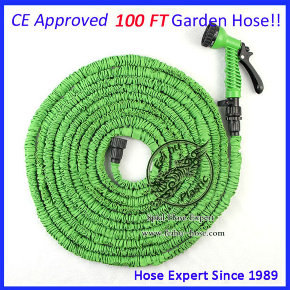 Expandable garden hose 100ft new arrival best quality green color magic flexible water hose to Expandable garden hose 100 ft