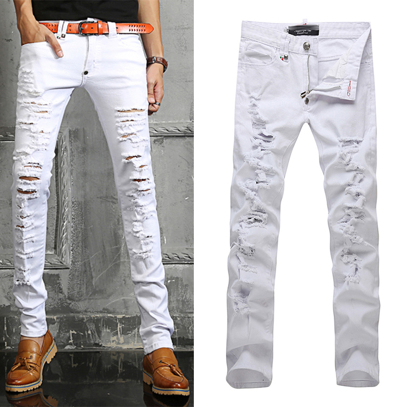Mens White Denim Jeans - Xtellar Jeans