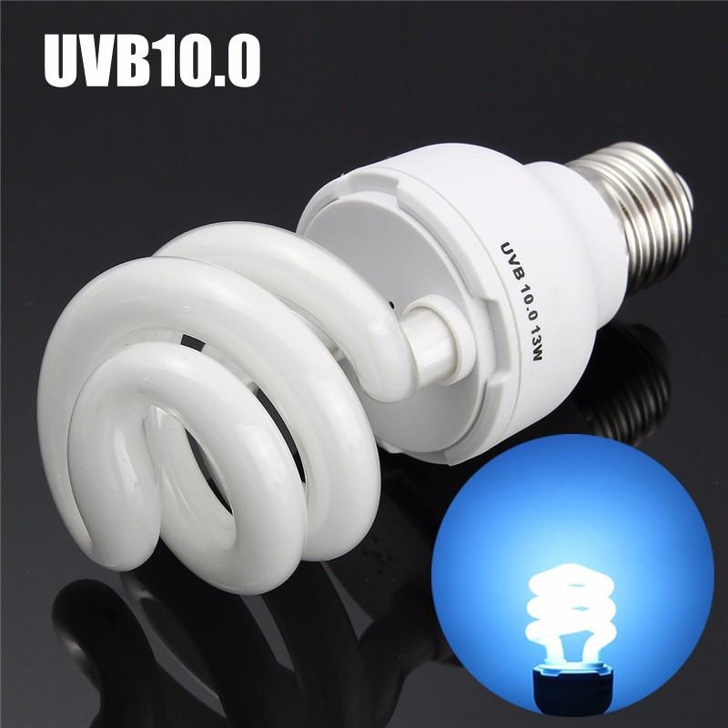 Newest UVB5.0/UVB10.0 13W Compact Light Fluorescent Desert Terrarium Reptile Lamp Bulb 110-240V(China (Mainland))