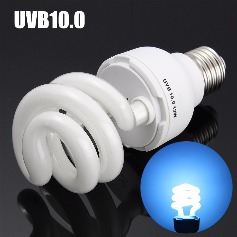 Newest UVB5.0/UVB10.0 13W Compact Light Fluorescent Desert Terrarium Reptile Lamp Bulb 110-240V(China (Mainland))