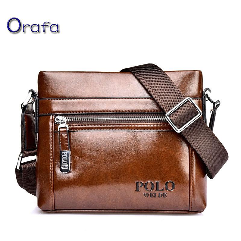 Polo 2016 men messenger bag famous brand design shoulder leather briefcases men bag business Vintage Mens crossbody bag for men(China (Mainland))