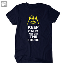 2016 new STAR WARS Costume short sleeve t shirt Jedi figure clothing keep calm and use the force funny tee t-shirts
