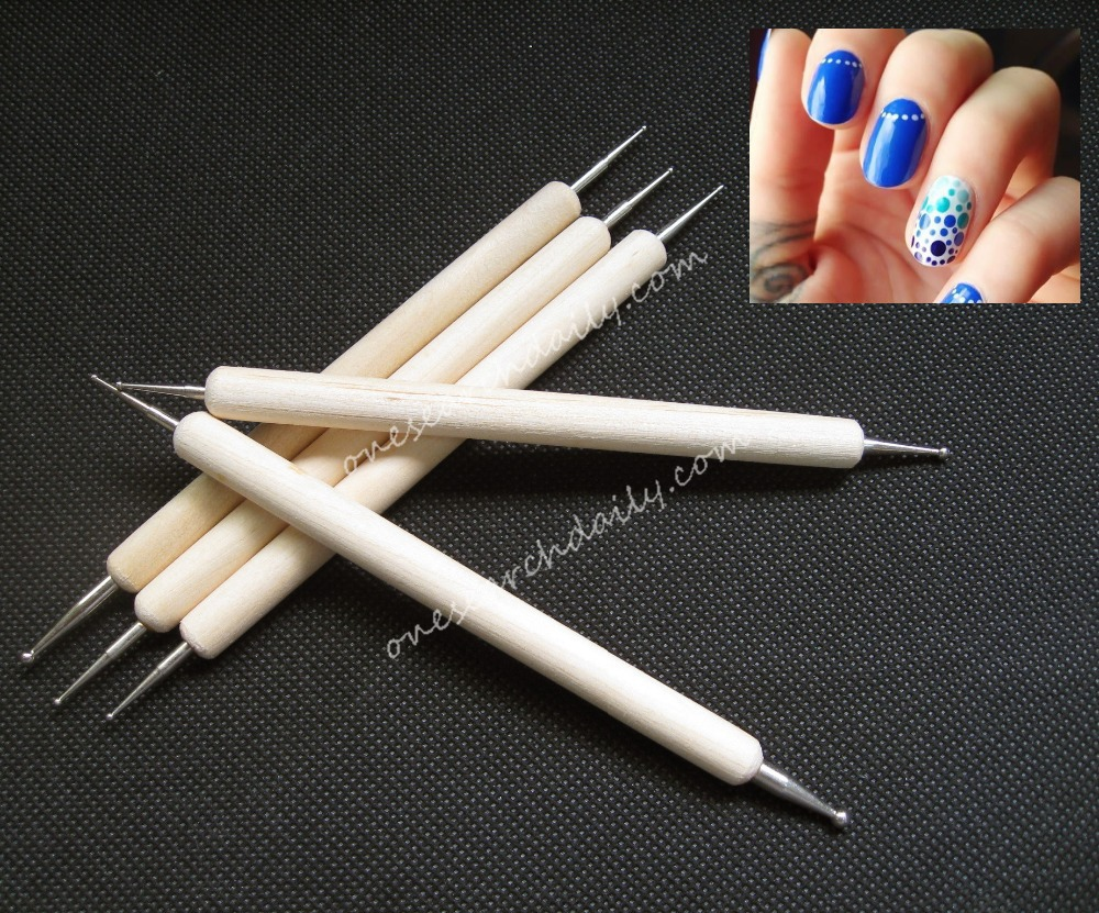 New hot sale 5 Pcs 2 Way Nail Art Wood Pen DOTTING Marbleizing Painting Tool Fashion high quality(China (Mainland))