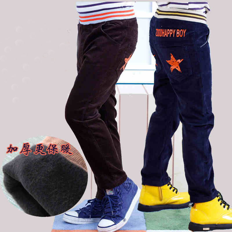 2015 Sale Pattern Leggings New Style Fashion Spring Winter Boy Child Corduroy Long Trousers Children's Clothing Casual Pants(China (Mainland))