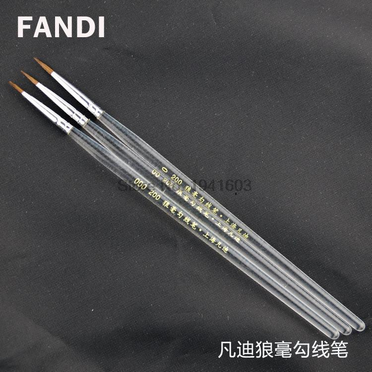transparent rod wolf hair hook pen scriptliner watercolor paint brushes paintiing supplies 3pcs/lot<br><br>Aliexpress