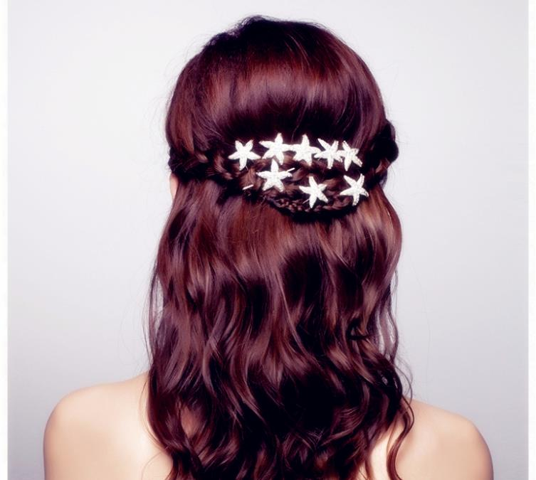 buy rhinestone wedding hairpins starfish