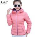 2015 winter jacket Женщины Korea Модный uniform warm jackets winter coat Женщины ...