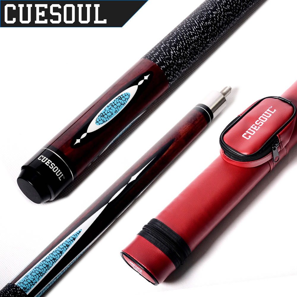 CUESOUL E104+CASE 1/2 Jointed Maple Pool Cue Stick With 1 Butt and 1 Shaft Billiard Cue Tube Case(China (Mainland))