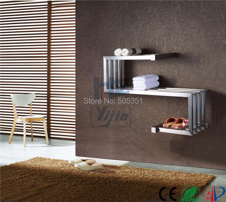 edelstahl bad wand elektrische trocknung handtuchw rmer halter chrom heizk rper regal f r. Black Bedroom Furniture Sets. Home Design Ideas