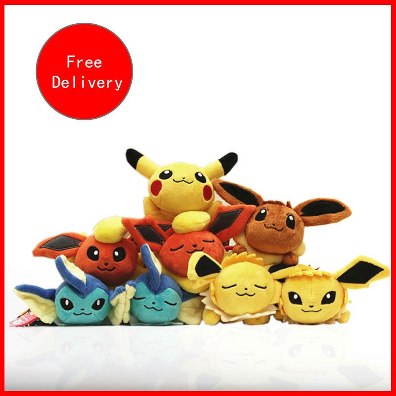 2016 Pokemon Plush Small Pendant 18CM Pikachu TV Girls birthday gifts Mobile Phone Accessories toy(China (Mainland))