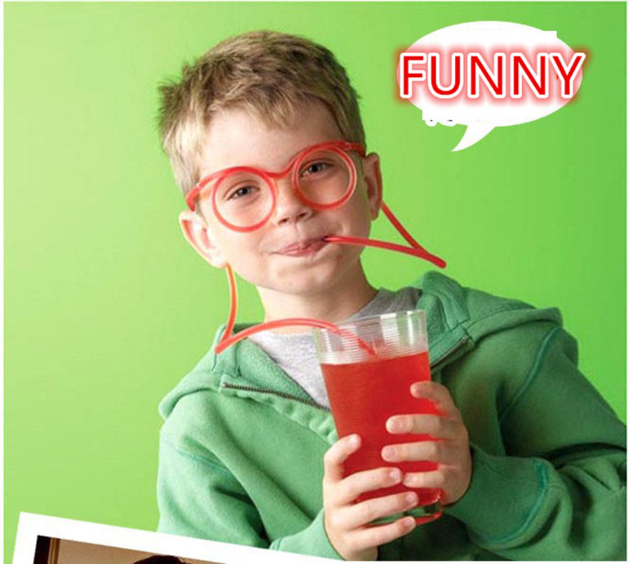 Non-toxic Straw Drinking Fruit Juice ABS Glasses's Straw repeated using&Exercise Lung Capacity Child's Love Trick Juguetes Gift(China (Mainland))