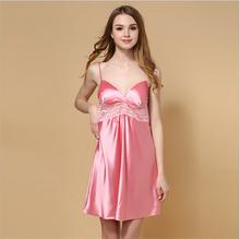 Silk Satin Nightgown Sleeveless