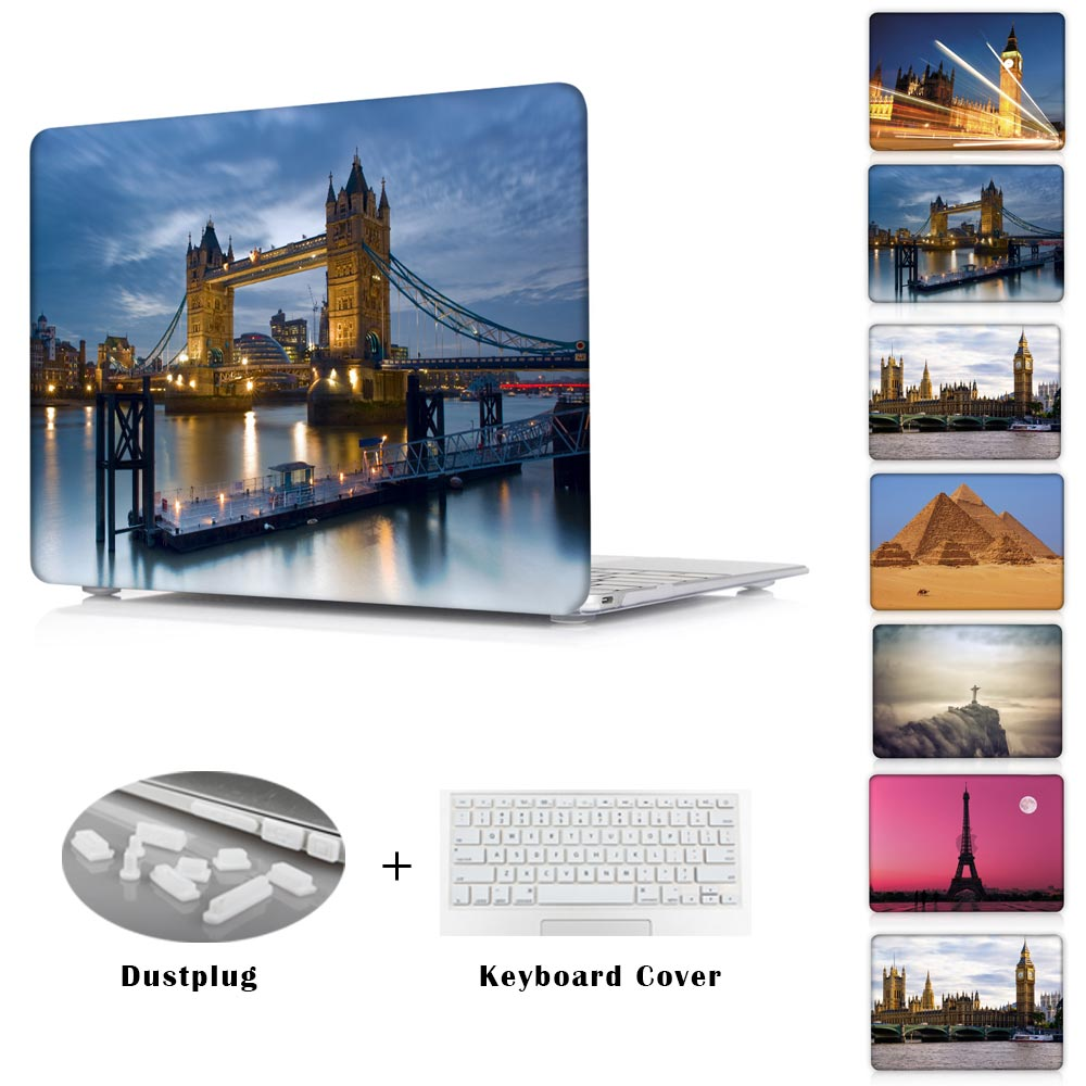 landscape Historical sites Pyramid Eiffel Tower print Case for MacBook Air 13 air 11 12 Hard Cover for Macbook Pro Retina 13 15(China (Mainland))