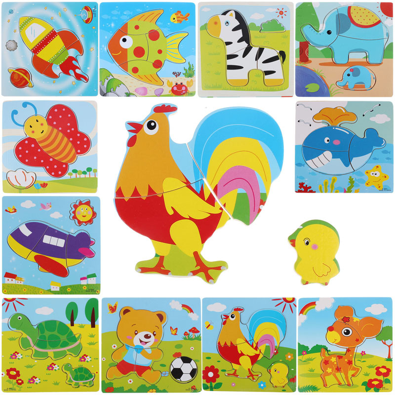2016 New Wooden Puzzle Educational Developmental Baby Kids Training Toy Free shipping(China (Mainland))