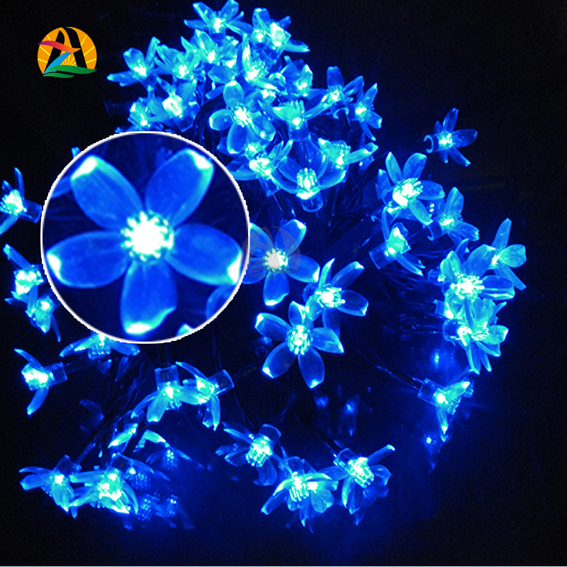 10M 60 LEDs/ Cherry Pendant LED solar string Lights Decoration For Christmas/Party Outdoor Garden La Luce solare.(China (Mainland))