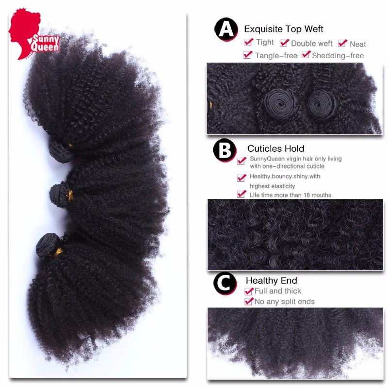 Brazilian Virgin Hair With Closure 4 Pcs/Lot Afro Kinky Curly Human Hair With Closure 8A Kinky Curly Virgin Hair With Closure