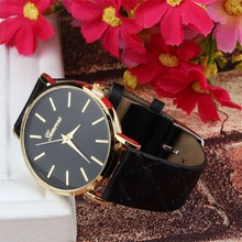 Best seller New Unisex Casual Checkers Faux Leather Quartz Analog Wrist Watch for outdoor travel shopping May10