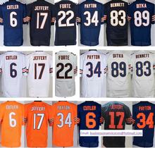hot sale #94 Leonard Floyd #13 Kevin White #17 Alshon Jeffery #34 Walter Payton 23 Kyle Fuller stitched logos top quality(China (Mainland))