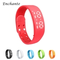 ENCHANTE W2 Smartbands Bracelet Time Display Smart Watch with Calorie Pedometer Temperature Sleep Monitor Waterproof Wristbands