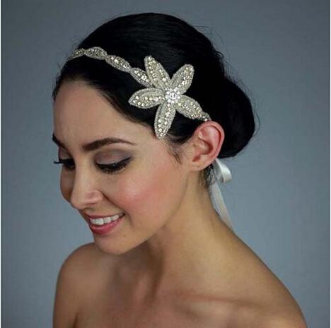 Fashion vintage Wedding hair jewelry handmade Bride headbands Hair Accessories XH96 - Kay's store