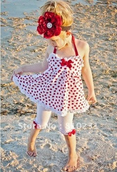 2015New,Free shipping 5sets/lot Hotsale Baby Summer Condole belt love girls 2 PCS per set . baby dress+Render pants