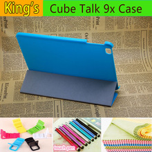 Hot 4 in 1 9.7 inch For Cube Talk 9x U65GT PU Leather Case Stand Cover for Cube Talk9X U65GT Tablet pc With 4 Free Gifts
