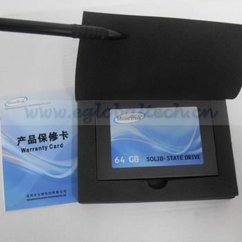 "Free Shipping Shinedisk SATAII 64GB New SSD Flash Hard Disk Drive 2.5"" for Laptop, Mini Desktop PC use"