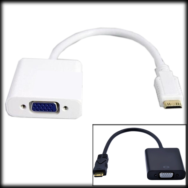 50% shipping fee 20 pieces Mini HDMI to VGA M/F Connector Cable mini HDMI Male to VGA Female Video Cable Cord Converter Adapter(China (Mainland))