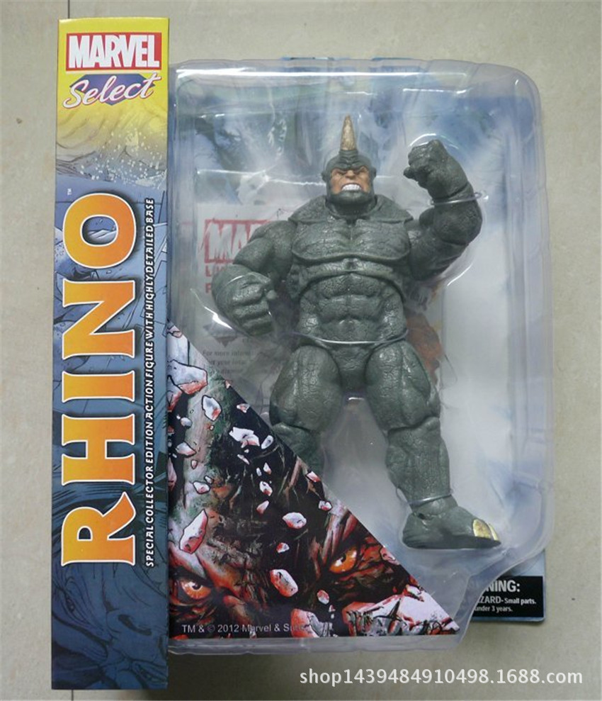 NEW scorching 22cm spider-man Rhino Aleksei Mikhailovich Sytsevich motion determine toys Christmas reward doll xc5