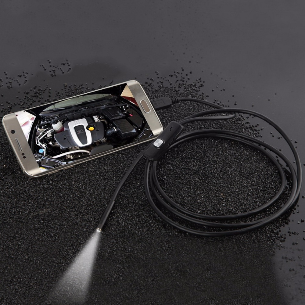 7mm Lens Waterproof 6 LED 720P Inspection Borescope Camera Android Endoscope 1M<br><br>Aliexpress