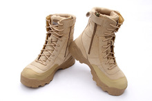 Gobon Military Tactical Motorcycle Combat Outdoor Army Botas Desert Hiking Long Shoes Autumn Boot Travel Leather High Boots Men(China (Mainland))