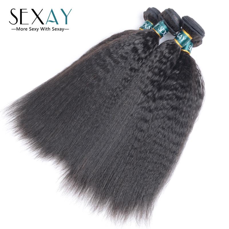3/4Pcs Mixed Length 7A Brazilian Kinky Straight Hair Weave 100% Virgin Human Hair Extension Hair Bundles Coarse Yaki Virgin Hair<br><br>Aliexpress